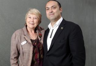 HELPING HAND: Eileen von Dadelszen and Marcus Akuhata-Brown are urging all to encourage youth in Hawke's Bay to achieve great success.