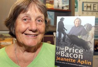 Good Life: Author Jeanette Aplin promoting her latest book, The Price of Bacon, at Hedley's Booksellers in Masterton.