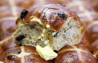 Hot cross buns ready for Easter.