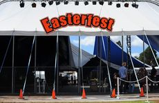 Easterfest - the day after being hit by rain and flooding.
