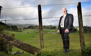 Bob Clarkson on his Tauriko land.