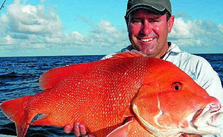 Former Australian cricket captain Mark Taylor caught this red emperor during his Whitsunday fishing adventure.