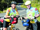 Sylvia and Keith Pringle take a break on their round-Australia cycle to raise awareness of multiple sclerosis.