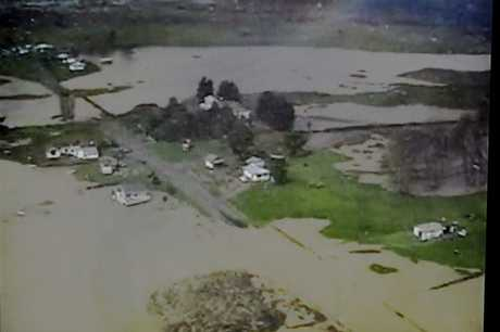 Kaiwaitau Rd on Mahia Peninsula, like much of the district, was under water.