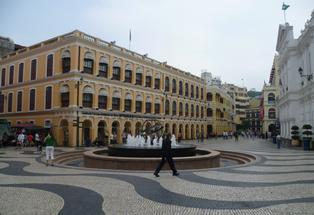 Gorgeous Senado Square is bordered by pastel-hued buildings that give it an elegant Mediterranean air.