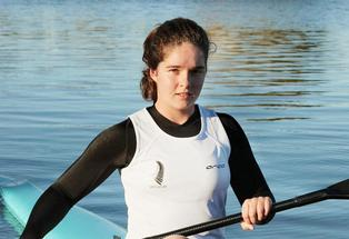 HUMMING ALONG: Aimee Fisher completes another training session in the buildup to the July Junior World Sprint Kayaking Championships in Germany.