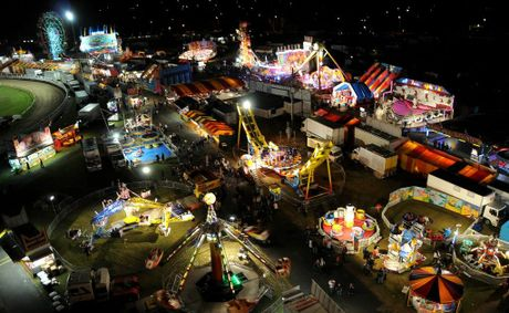 Gympie Show at night.