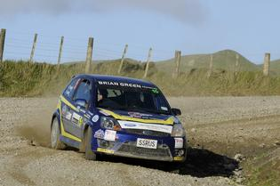 Phil Campbell had gearbox issues and then broke an axle in a rugged Rally of Wairarapa.