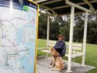 Howard Morris with his guide dog Falcon is upset the bus route has stopped after 22 years of using it.