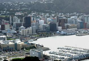 Wellington&#39;s CBD.