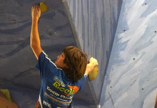 New Zealand National Cup Rock climbing Series Round 3 - Levi Offner, 12, from Tauranga Intermediate School.