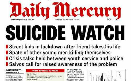 The Daily Mercury front page, September 4, 2008.