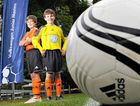 Jye De Castro, 12, (left) and Zac Gardner, 11, are in the Buderim Wanderers under-12 football team headed for the Volkswagen Junior Masters.