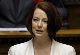 Prime Minister of Australia Julia Gillard speaks to Parliament.