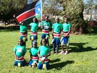 FREEDOM: Celebrating South Sudan's independence in Toowoomba are (front, from left) Helen Silvano, Alima Deng, Abouc Mawien, (back, from left) Adut Yel, Athuelueth Akol, Adau Magok, Adau Ajak and Achama Wol.