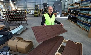 Lance Eagle is selling Katikati-made tile roofing systems around the world, from Nigeria to Honduras.
