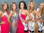 Miss Universe Australia finalists Danielle Voller, Brooke Nash, Leah Freney, Rebecca Ronald and Melissa Kelly.