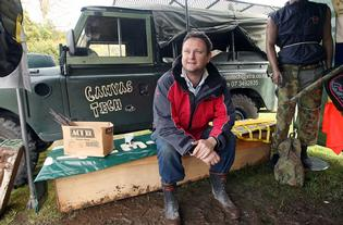 ON DISPLAY: Rotorua's Daryl Sheffield with his classic Land Rover at the Rotorua Vintage and Veteran Car Club Swap Meet and Car Show.
