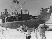 FORTY years ago today, the Singaporean cargo ship the Cherry Venture buffeted up on to the shores of Teewah Beach during a ferocious storm.