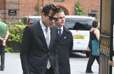 Mark Ronson attends Amy Winehouse's funeral.