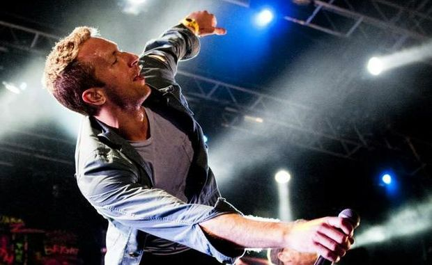 Coldplay's Chris Martin performs at Splendour in the Grass. CONTRIBUTED.