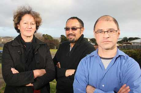 LEADING EDGE: Te Atawhai o te Ao environment and health researchers Dr Cherryl Smith (left) and Dr Paul Reynolds (right) pictured with the organisation's trust member Adrian Rurawhe.