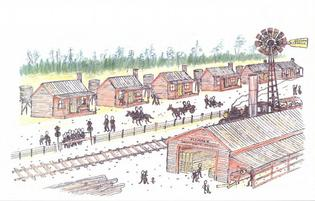 The proposed sawmill, railway and village.