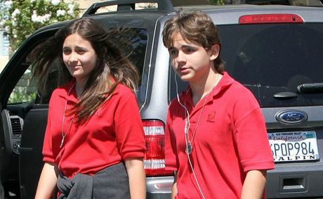 Michael Jackson's children Paris and Prince.