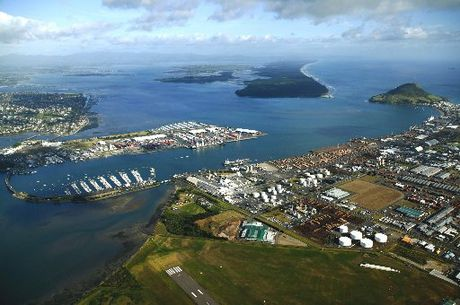 An aerial view of the Port of Tauranga.