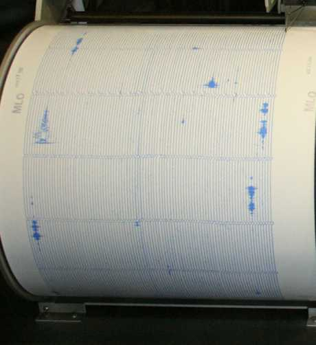 Seismographs constantly monitor the earth's movements.