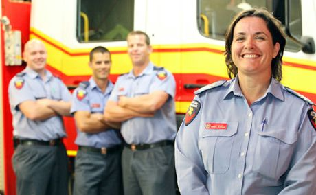 FIGHTING FIRE: Queensland Firefighter Megan Stiffler.