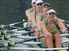 Australia's quad scull crew (from left) Amy Ives, Sarah Cook, Brooke Pratley and Sally Kehoe.