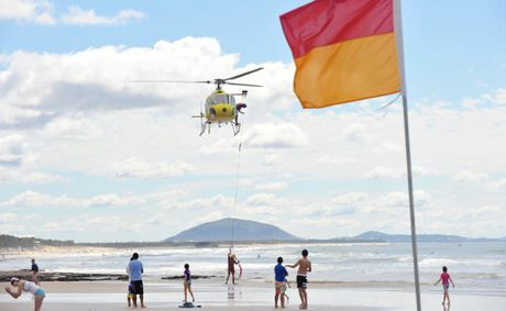 There were three near drownings on Sunshine Coast beaches on Christmas Day.