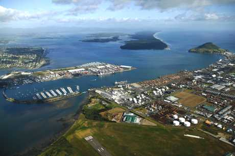 Aerial view of the Port of Tauranga