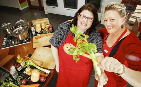 Jamie's Ministry of Food volunteer Shelley Roche and centre manager Danella Martin are surprised by how successful the centre has been. Photo: David Nielsen