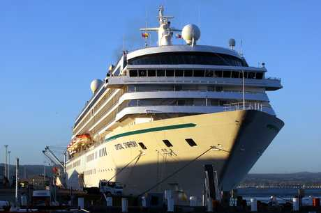 Crystal Symphony at the Port of Tauranga.