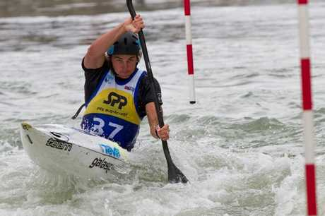 Tauranga's Mike Dawson competing at the canoe slalom world championships in Slovakia over the weekend.