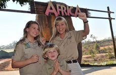 Terri Irwin, Bindi Irwin and Robert Irwin officially open Africa at Australia Zoo.
