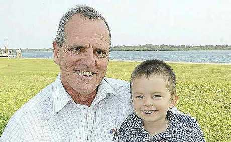 LONG ROAD AHEAD: Terry Phillis, of Lennox Head, will be taking part in the Paris marathon next year to raise money for ChildFund Australia, inspired by his grandson, Riley Clayton.