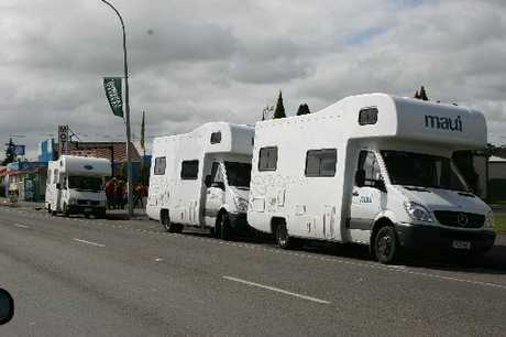 TROUBLE FREE: Freedom campers have peacefully invaded Hawke's Bay.PHOTO/APN