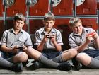 Ipswich Grammar School students Luke Cronan, Robert Harman-Schufft and Spencer Zanner say texting doesn't affect their schoolwork.