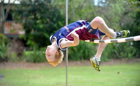 Australian high jump champion 11 year old Ben Schmidtchen from Narangba
