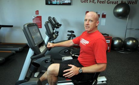 Snap Fitness franchise owner Matt Fallon inside the Caloundra gym.