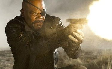 Samuel L Jackson stars as Nick Fury in The Avengers.