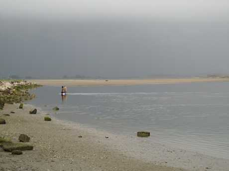 Pipi gathering in the estuary at Maketu would be ruined by oil washed ashore from the Rena.