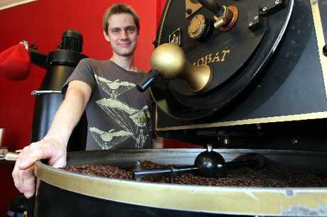 DISCERNING: Flight roaster Richard Corney blended up a gold and bronze medal for the Huhtamaki 2011 New Zealand Coffee Awards, held in Auckland last night.