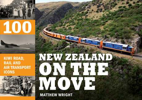 Cover for New Zealand on The move by Matthew Wright. Photo / Supplied