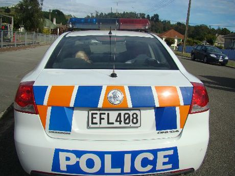 A group of Chinese tourists were confronted by an Oamaru man on Friday night who allegedly demanded money from them after stealing alcohol from Liquorland earlier in the night.