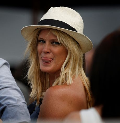 Former supermodel Rachel Hunter has returned to New Zealand to cheer on the All Blacks.