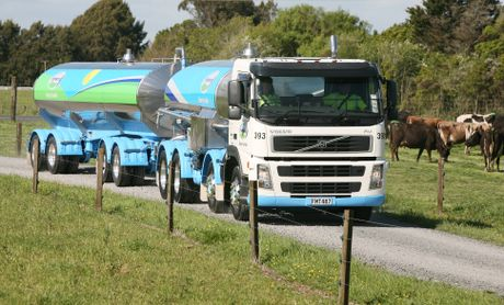One of Fonterra milk tankers